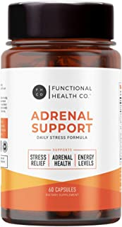 Adrenal Support & Cortisol Manager, Natural Adrenal Health with Ashwagandha Extract, Rhodiola Rosea, L-Tyrosine, Adaptogen...