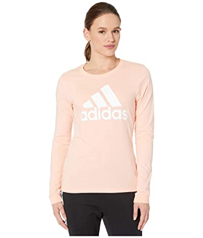 adidas Badge of Sport Long Sleeve Tee (Glow Pink) Women