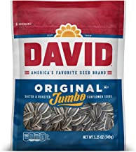 DAVID Roasted and Salted Original Jumbo Sunflower Seeds, Keto Friendly, 5.25 oz, 12 Pack