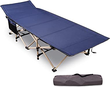 """REDCAMP Folding Camping Cots for Adults Heavy Duty, 28"""" - 33"""" Extra Wide Sturdy Portable Sleeping Cot for Camp Office Use, Bl"""