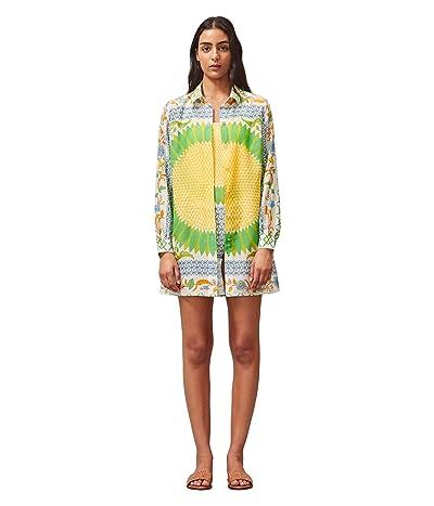 Tory Burch Swimwear Brigitte Printed Beach Tunic Cover-Up (Multi Giverny Engineer) Women