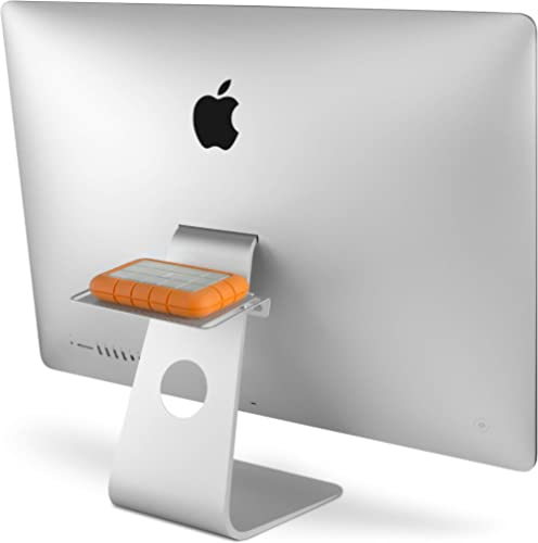 Twelve South 12-1302 Backpack for iMac and Apple Displays | Hidden Storage Shelf for Hard Drives and Accessories, Silver