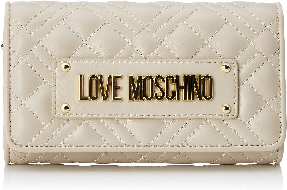 Love moschino portafoglio per donna porta carte di credito in pelle sintetica JC5623PP0A1