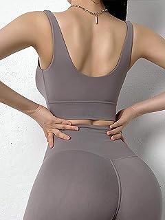 Women's Nylon High-Strength Shockproof Running Underwear Yoga Vest Top Fitness Bra Gym Workout Cloth