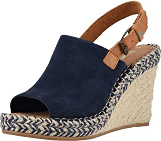 TOMS Women's Monica Navy Suede/Leather 5 B US