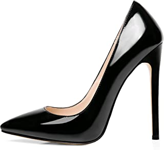 Nansay Women's Shoes Sky High Heels Pointed Toe Stiletto Pumps for Party Wedding