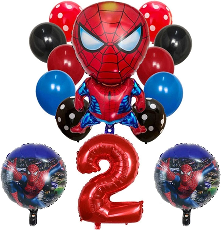 Number Balloon National uniform free shipping 14pcs Spiderman Captain Ba Round America Iron Super sale Man