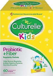 Culturelle Kids Regularity Probiotic & Fiber Dietary Supplement - Helps Restore Regularity & Keeps Kids' Digestive Systems...