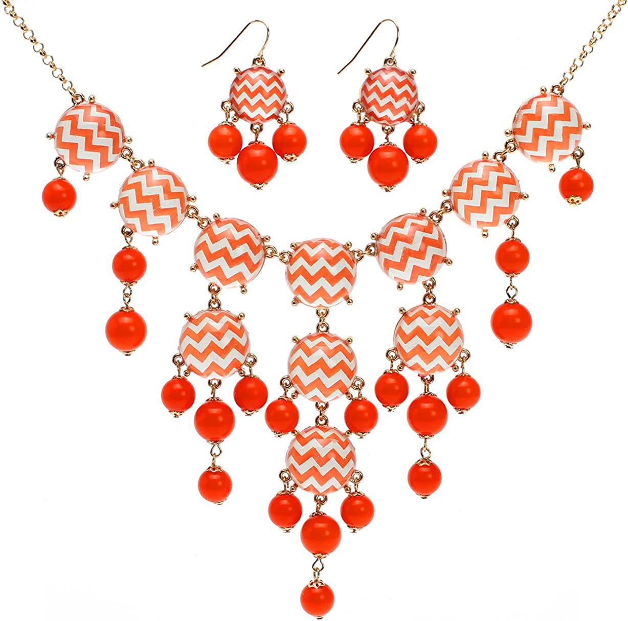 Lova Jewelry Electric Wave Necklace and Earrings Set