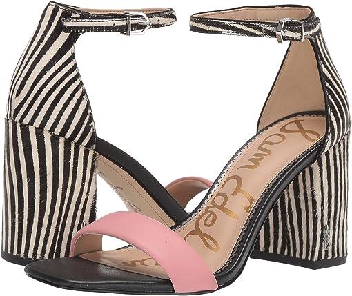 Canyon Pink/Black/White Butter Nappa Leather/Baby Zebra Brahma H