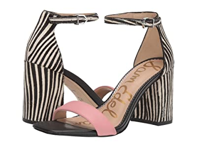 Sam Edelman Daniella (Canyon Pink/Black/White Butter Nappa Leather/Baby Zebra Brahma H) Women