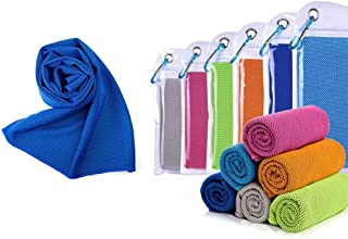 IUURO- LOGEE Microfiber Cooling Towel Soft Breathable Chilly Towel with Evaporative Cooling Ice Towel for Sports, Workout, Fitness, Gym, Yoga, Golf, Pilates, Travel, Camping, More (Dark Blue)