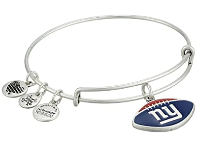 Alex and Ani Color Infusion New York Giants Football II Bangle (Rafaelian Silver) Bracelet