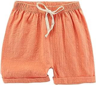 Elonglin Boys/Girls Shorts Cotton Linen Blend Cute Shorts Casual Summer Kids Toddler Baby Beach Short Pants Bottom