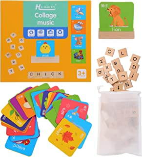TOYANDONA 1 Set Matching Letter Game Letter Spelling and Learning Game for Preschool Kindergarten Letters Matching Games M...