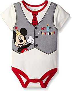 Disney Baby Mickey My First Birthday Creeper - Creeper para bebé