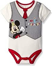 Disney Baby Boys' Mickey My First Birthday Creeper