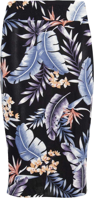 Be Jealous Womens Printed Bandage Pencil Bodycon Midi Skirt