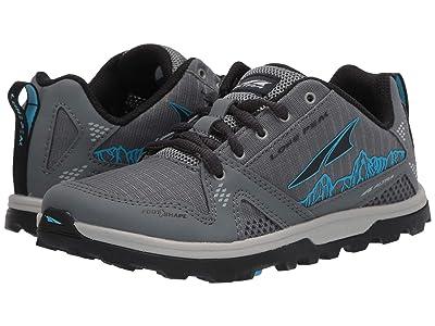 Altra Footwear Lone Peak (Little Kid/Big Kid) (Gray/Blue) Shoes