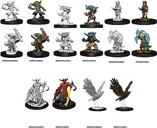 Wizkidz Pathfinder Deep Cuts Miniatures W9: Male & Female Goblin Alchemist, Gnome Sorcerer, Genie Efreeti, & Giant Eagle