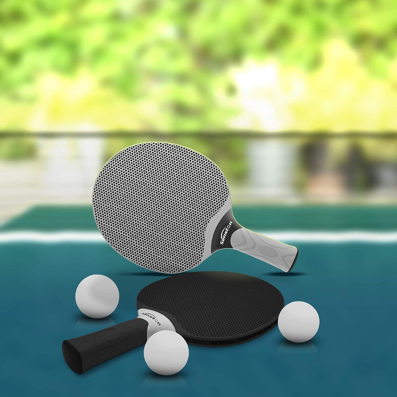 Raquette de ping-Pong en Caoutchouc Composite Ensemble de Raquettes de ping-Pong Professionnel pour 4 Joueurs Jeux int/érieurs ou ext/érieurs. Senston Ensemble de Raquettes de Tennis de Table