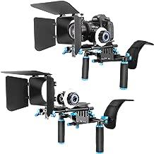 Neewer Film Movie Video Making System Kit for DSLR Cameras Video Camcorders,includes:Shoulder Mount,15mm Rod,Follow Focus,Matte Box(Blue)