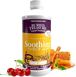 Buried Treasure Soothing Syrup ACF Wild Cherry Honey Vitamin C and Herbal Blend Demulcent to Help Calm and Soothe the Thro...