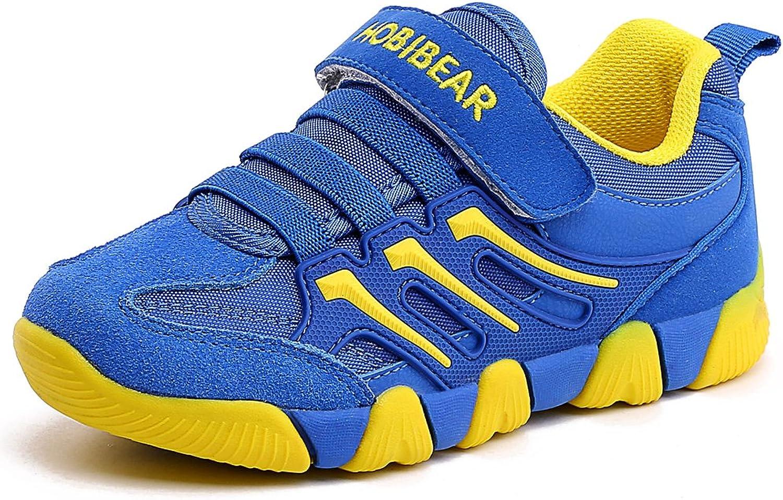 HOBIBEAR Boys Hook and Loop Sneakers Lightweight Kids Running Sport shoes