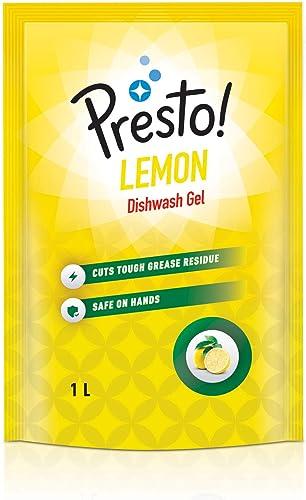 Amazon Brand Presto Dishwash Gel Refill Lemon 1 L