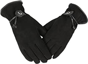 OZERO Womens Winter Gloves with Sensitive Touch Screen Fingers, Deerskin Leather Gloves