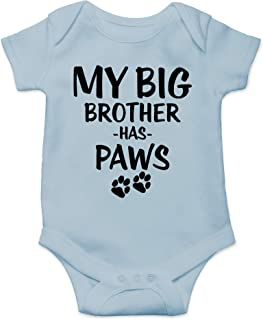 My Big Brother Has Paws - Animal Lover - Cute One-Piece Infant Baby Bodysuit