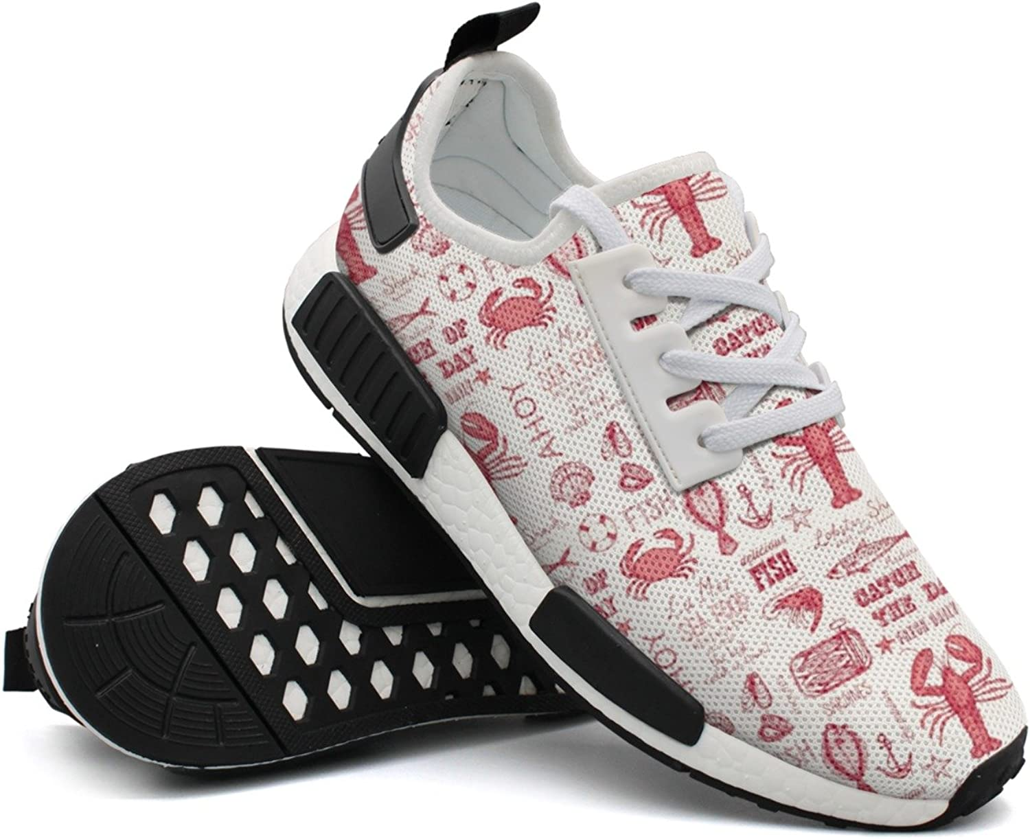 Seafood Crab Lobster Red Women's Gift Jogger Running shoes Top Men's
