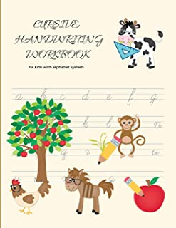 Cursive Handwriting Workbook For Kids: Creative Practice Books For Kids; Letter Tracing For Preschool Kids Ages 3-5; Penma...