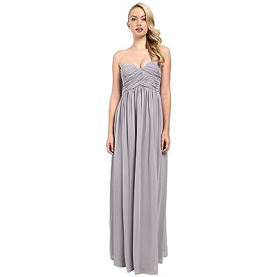 Donna Morgan Laura Long Chiffon Gown Dress (Sterling) Women