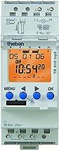 Theben 6100100 - TR610 top2 - temporizador digital de 1 canal con programación de aplicaciones - perfecto para LED - Carril DIN