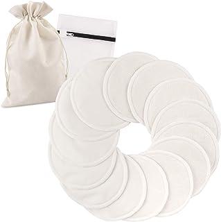 SmartFami Washable Organic Bamboo Nursing Pads 24 Pack Breastfeeding Pad Bra
