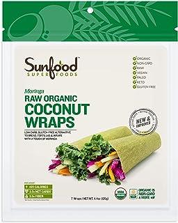 Sunfood Coconut Wraps, Moringa, 7 Count