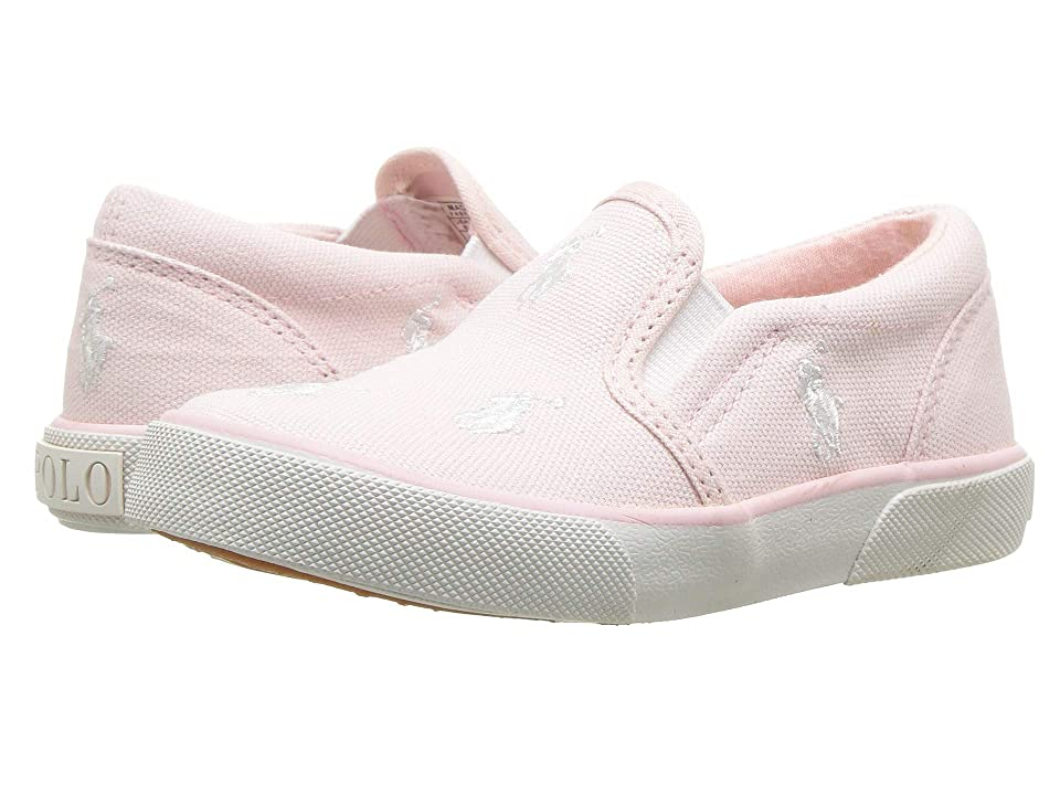 Polo Ralph Lauren Kids Bal Harbour Repeat (Toddler) (Light Pink Canvas/White PP) Girls Shoes