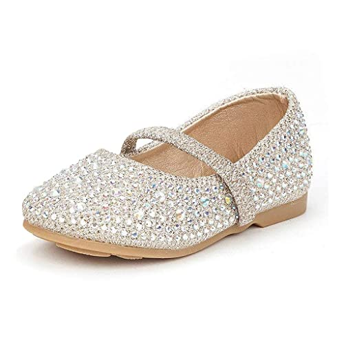 887a0ae46aa1 DREAM PAIRS Girl s SERENA-100 Mary Jane Casual Slip on Ballerina Flat  (Toddler)