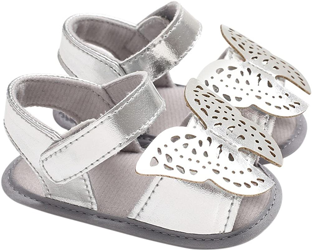 BOBORA Baby Girl Shoes Metallic S Butterfly Super beauty 5% OFF product restock quality top Sandals Hollow Soft