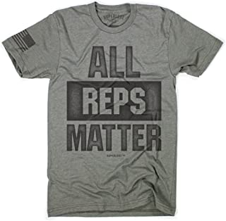 568c5e651 Superluxe Clothing Mens All Reps Matter American Flag Lifting Workout T- Shirt