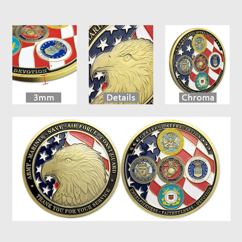 Navy Veteran Coin Navy Veteran Challenge Coin United States Department The Defence