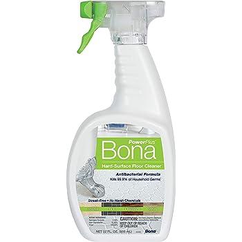 Bona PowerPlus Antibacterial Hard-Surface Floor Cleaner, 22 oz Spray