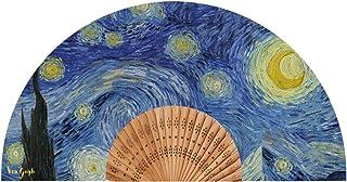 Van Gogh Abanico Modelo Noche Estrellada Tela