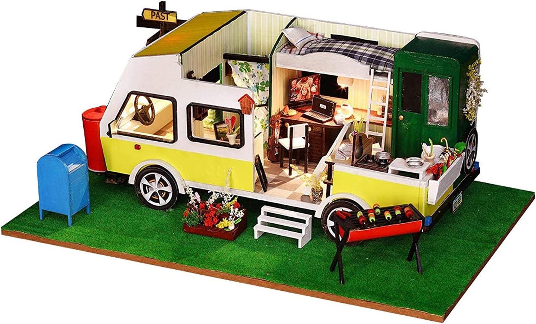 ALISALQ shop Car Model DIY Miniature Raleigh Mall Dollhouse Mini Kit Furniture Woo