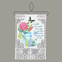 Heritage Lace Spread Your Wings Wall Hanging, White