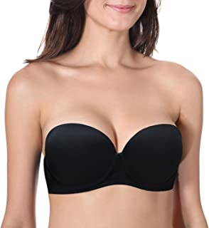 Vogue's Secret Women's Push Up Strapless Bra Convertible Underwire Thick Padded T-Shirt Multiway Bras