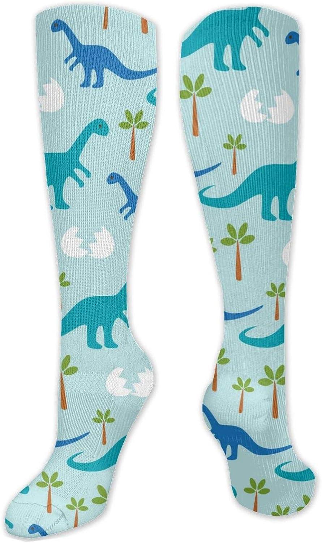 Dinosaur_Baby Knee High Socks Leg Warmer Dresses Long Boot Stockings For Womens Cosplay Daily Wear