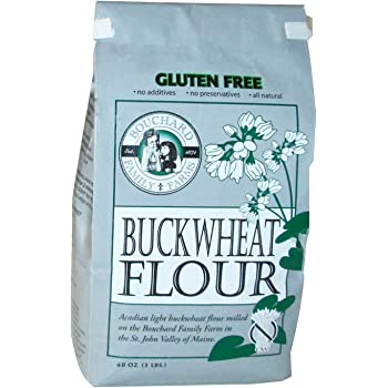 Bouchard Family Farms Gluten-Free and Kosher Acadian Light Buckwheat Flour, 3lb Bag