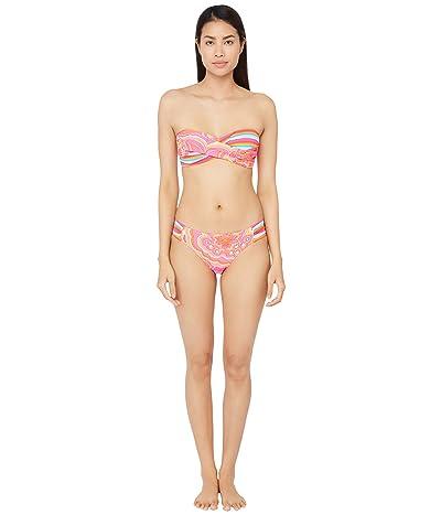 Trina Turk 25th Anniversary Morning Sunrise Twist Bandeau Bra Bikini Swimsuit Top Women
